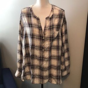 Old Navy purple flannel loose fitting top XL
